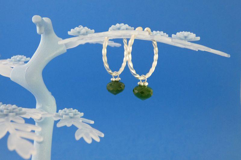 - handgearbeitete Sterlingsilber-Ohrringe mit meergrünen facettierten Jade-Perlen kaufen - handgearbeitete Sterlingsilber-Ohrringe mit meergrünen facettierten Jade-Perlen kaufen