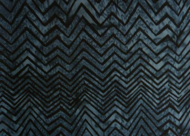 - ✂ Batik Stoff Meterware Zick-Zack blau-schwarz - ✂ Batik Stoff Meterware Zick-Zack blau-schwarz