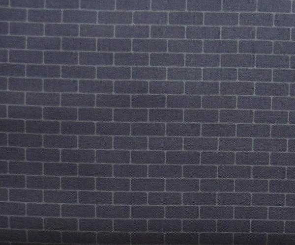 - ✂ Patchworkstoff Meterware mit dunkelgrauen Ziegelsteinen dunkel  - ✂ Patchworkstoff Meterware mit dunkelgrauen Ziegelsteinen dunkel