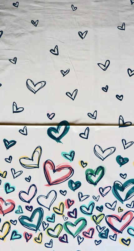 Kleinesbild - ✂ Patchworkstoff Meterware Art Gallery Happy Home - große Herzen