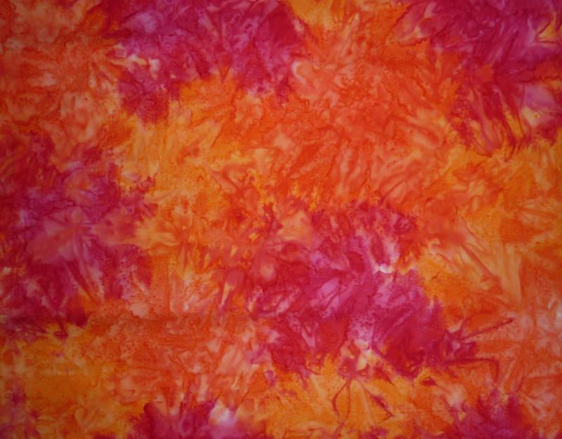 - ✂ Patchworkstoff Meterware Batik orange-pink marmoriert - ✂ Patchworkstoff Meterware Batik orange-pink marmoriert