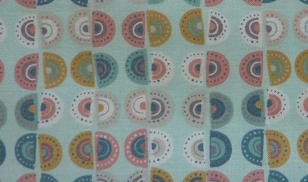 Kleinesbild - ✂ Patchworkstoff Meterware Makower Sophia Scallop Streifen