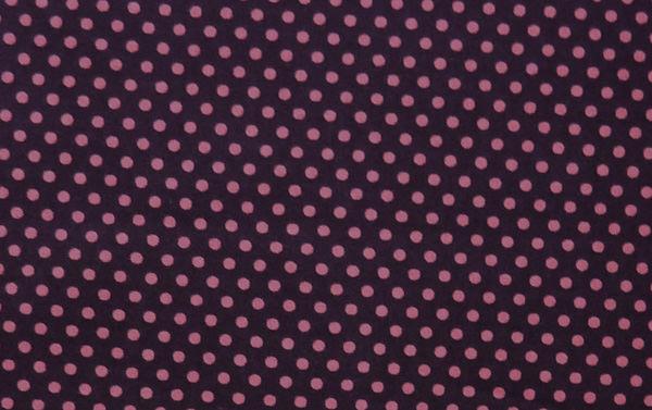 - ✂ Patchworkstoff Meterware Punkte pink auf brombeerfarbenen Hintergrund - ✂ Patchworkstoff Meterware Punkte pink auf brombeerfarbenen Hintergrund