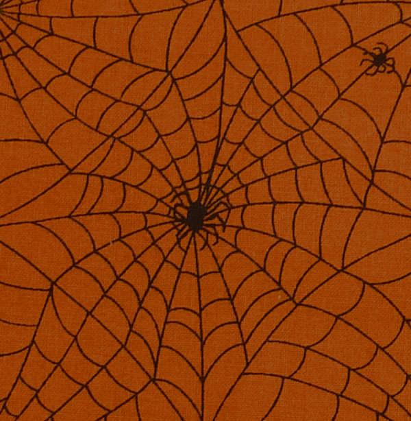 Kleinesbild - ✂ Patchworkstoff Meterware South See Imports Boo Who kleine schwarze Spinnen
