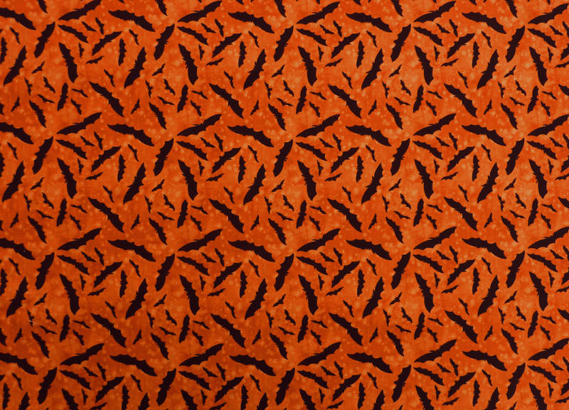 Kleinesbild - ✂ Patchworkstoff Meterware Clothworks Broom Sweepers Halloween Kürbisköpfe