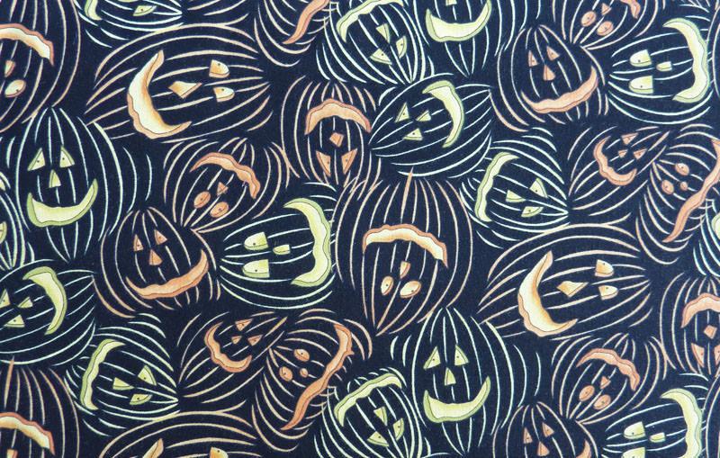 - ✂ Patchworkstoff Meterware Clothworks Broom Sweepers Halloween Kürbisköpfe - ✂ Patchworkstoff Meterware Clothworks Broom Sweepers Halloween Kürbisköpfe