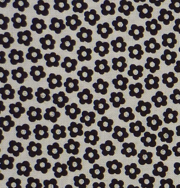 - ✂ Patchworkstoff Meterware schwarze Blümchen auf weißem Grund - ✂ Patchworkstoff Meterware schwarze Blümchen auf weißem Grund