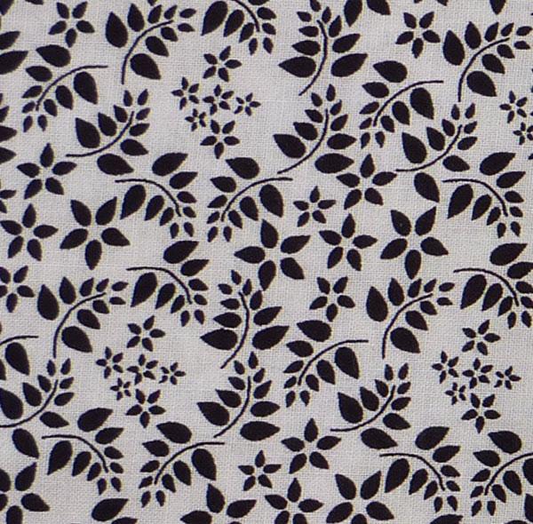 - ✂ Patchworkstoff Meterware schwarze Blättchen auf weißem Grund - ✂ Patchworkstoff Meterware schwarze Blättchen auf weißem Grund