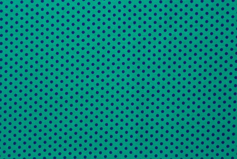 Kleinesbild - ✂ Patchworkstoff Meterware kleine lila Punkte auf türkisfarbenem Hintergrund