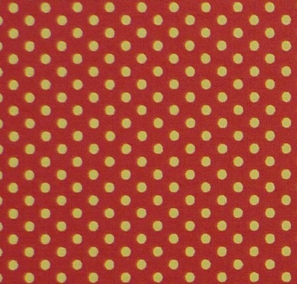- ✂ Patchworkstoff Meterware kleine gelbe Punkte auf orangen Hintergrund - ✂ Patchworkstoff Meterware kleine gelbe Punkte auf orangen Hintergrund