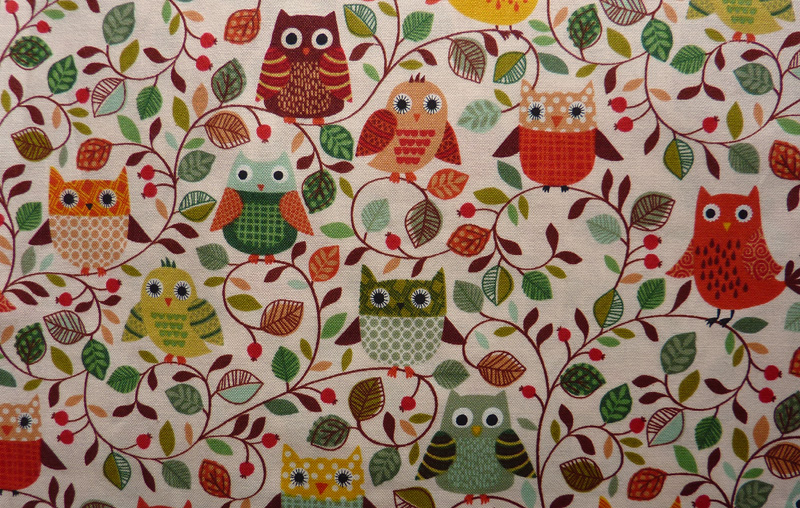 Kleinesbild - ✂ Patchworkstoff Meterware Makower Forest Friends Pilze