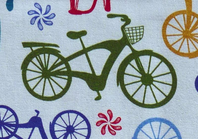 Kleinesbild - ✂ Patchworkstoff Meterware Anthology Bikes & Trikes Stripe