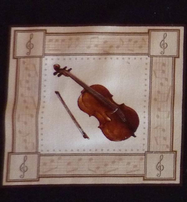Kleinesbild - ✂ Patchworkstoff Meterware  ein Panel mit Musikinstrumenten