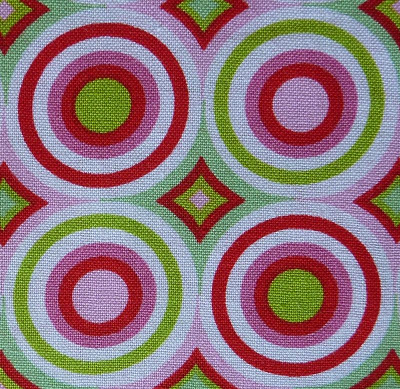 Kleinesbild - ✂ Patchworkstoff Meterware  Tante Ema Kreise pink-grün