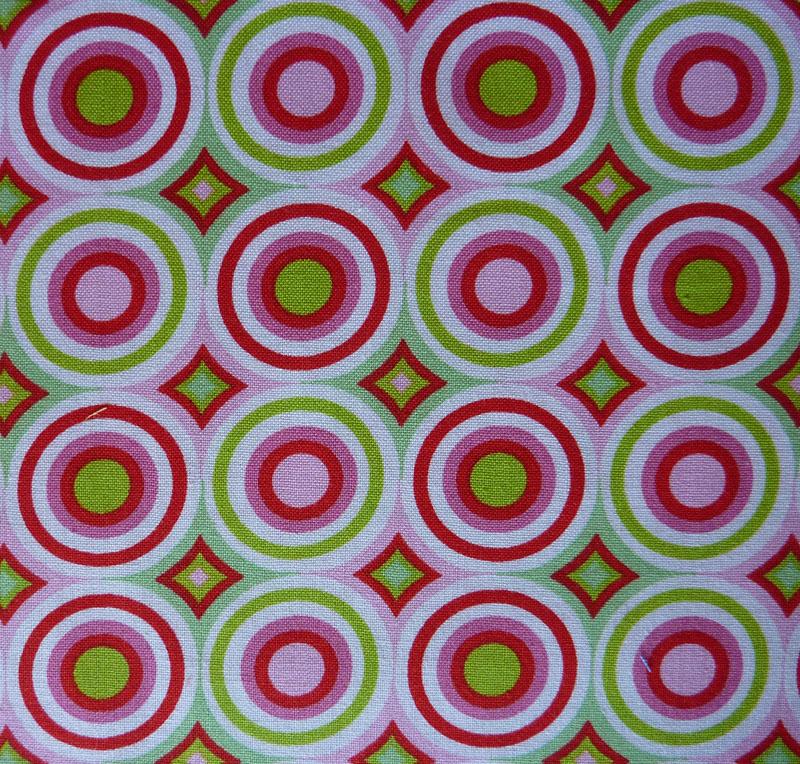 - ✂ Patchworkstoff Meterware  Tante Ema Kreise pink-grün - ✂ Patchworkstoff Meterware  Tante Ema Kreise pink-grün