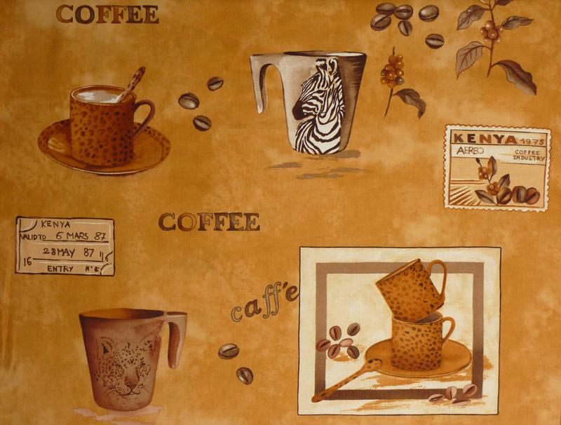 - ✂ Patchworkstoff Meterware Coffee Journey Pattern dunkel - ✂ Patchworkstoff Meterware Coffee Journey Pattern dunkel