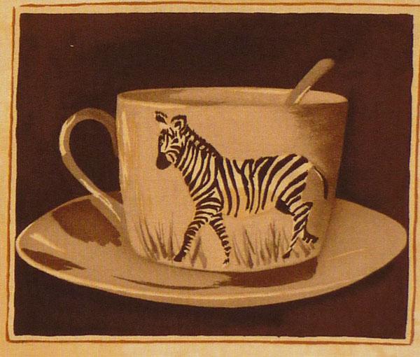 Kleinesbild - ✂ Patchworkstoff Meterware Coffee Journey Pattern hell