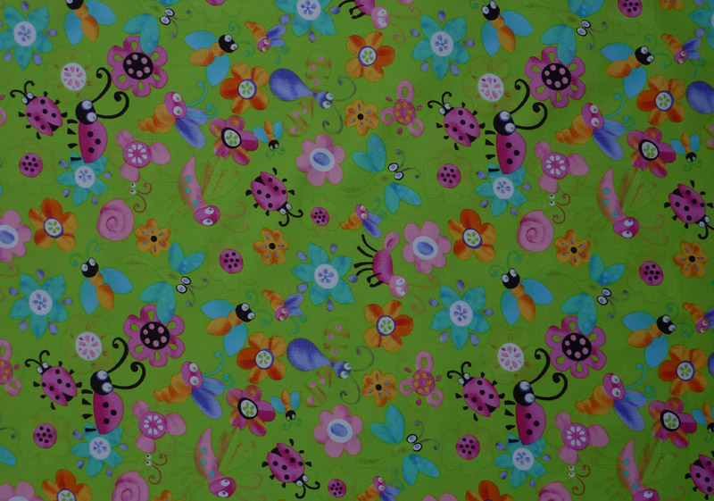 - amerikanischer Patchworkstoff Meterware Käfer, Blümchen, Schmetterlinge - amerikanischer Patchworkstoff Meterware Käfer, Blümchen, Schmetterlinge