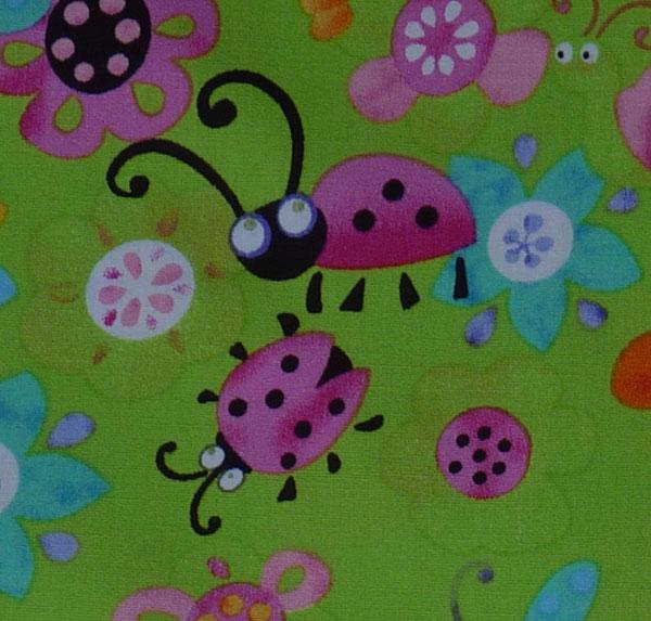 Kleinesbild - amerikanischer Patchworkstoff Meterware Käfer, Blümchen, Schmetterlinge