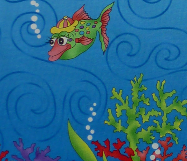 Kleinesbild - amerikanischer Patchworkstoff Meterware Northcott I wish a fish