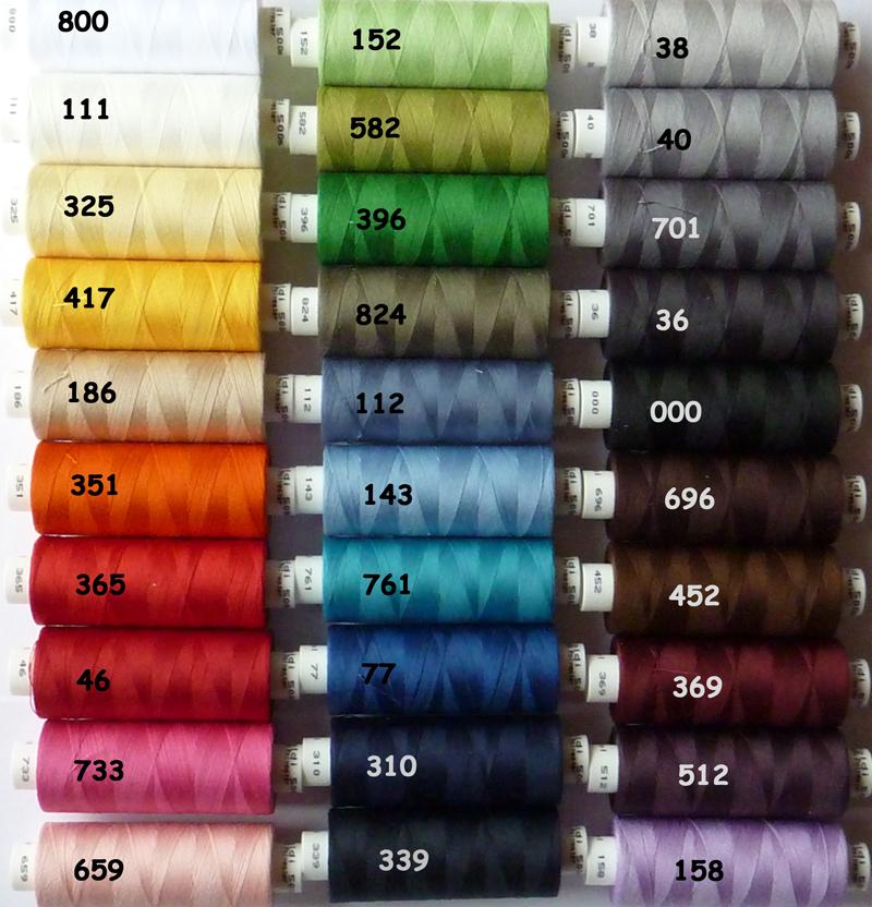 Kleinesbild - ✂ 10 verschiedene Farben nach Wahl von Gütermann hochwertiges Toldi-Nähgarn 500 mtr.
