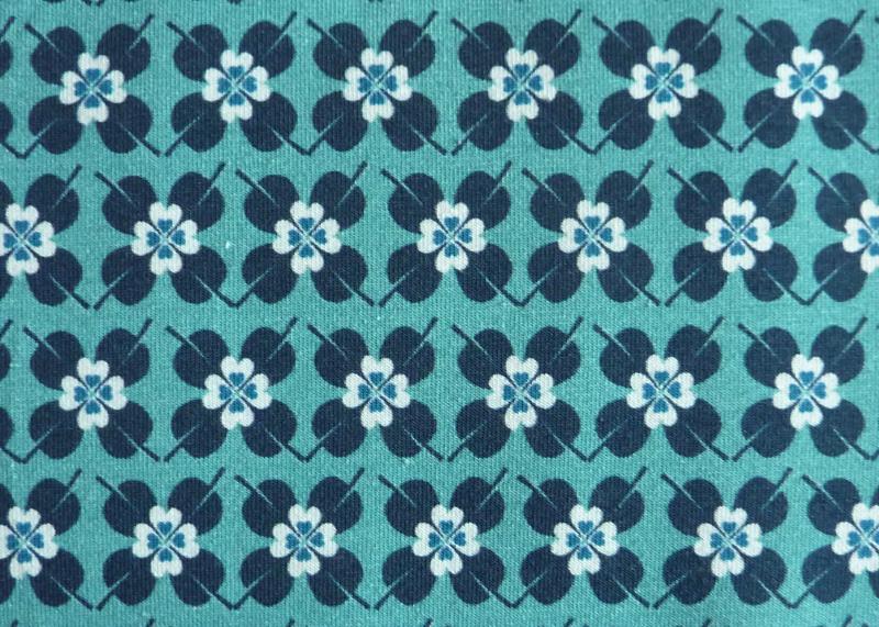 Kleinesbild - ✂ Jersey Woodland Hearts Flower dunkel