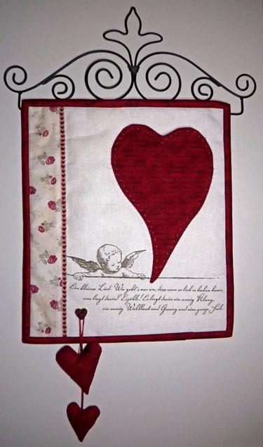 - ✂ Materialpackung mit Anleitung für Herz auf Leinenband einschließlich Bügel - ✂ Materialpackung mit Anleitung für Herz auf Leinenband einschließlich Bügel