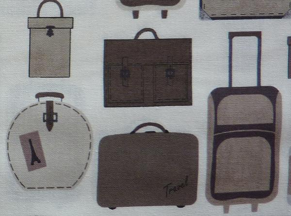 Kleinesbild - ✂ Patchworkstoff Meterware  stoffabrics Slow Travel  Koffer
