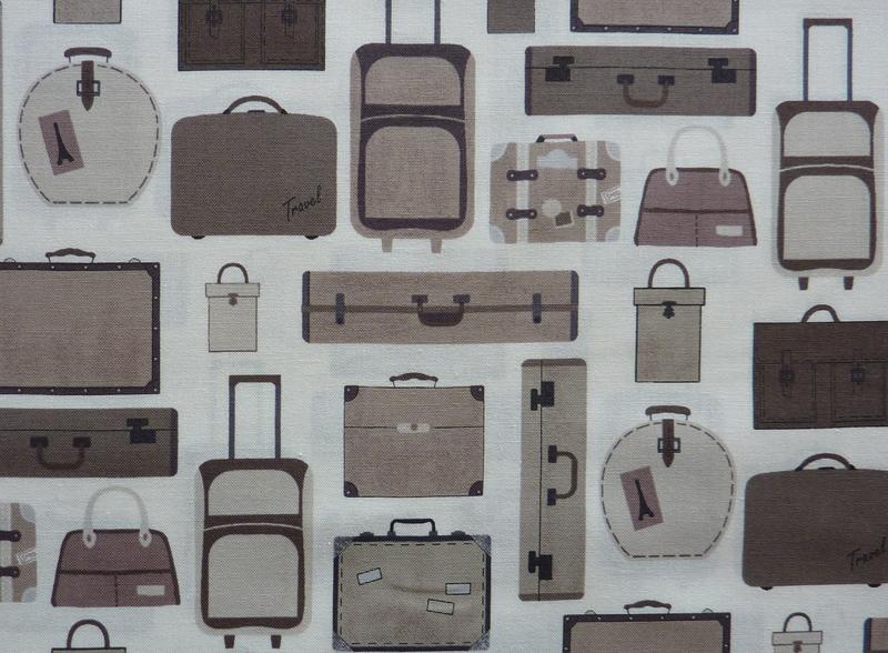 - ✂ Patchworkstoff Meterware  stoffabrics Slow Travel  Koffer - ✂ Patchworkstoff Meterware  stoffabrics Slow Travel  Koffer