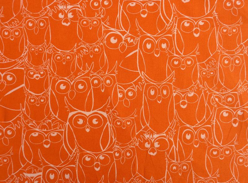 - ✂ Patchworkstoff Meterware Paintbrush Studio Nite Owls orange - ✂ Patchworkstoff Meterware Paintbrush Studio Nite Owls orange