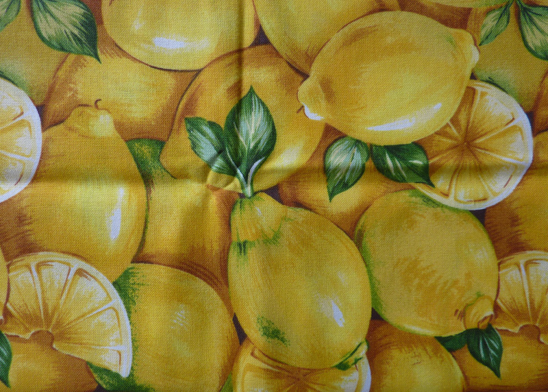 Kleinesbild - ✂ Patchworkstoff Meterware Obst und Gemüse - Apfel mit Blüte