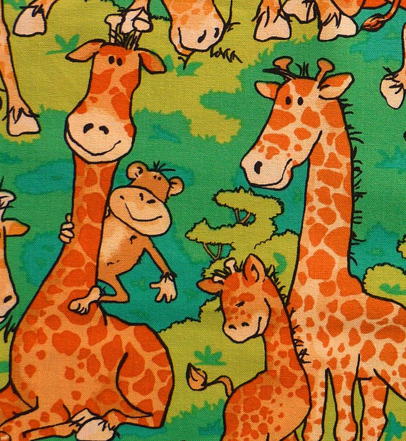 - ✂ Patchworkstoff Meterware Zany Zoo Lustige Giraffen - ✂ Patchworkstoff Meterware Zany Zoo Lustige Giraffen