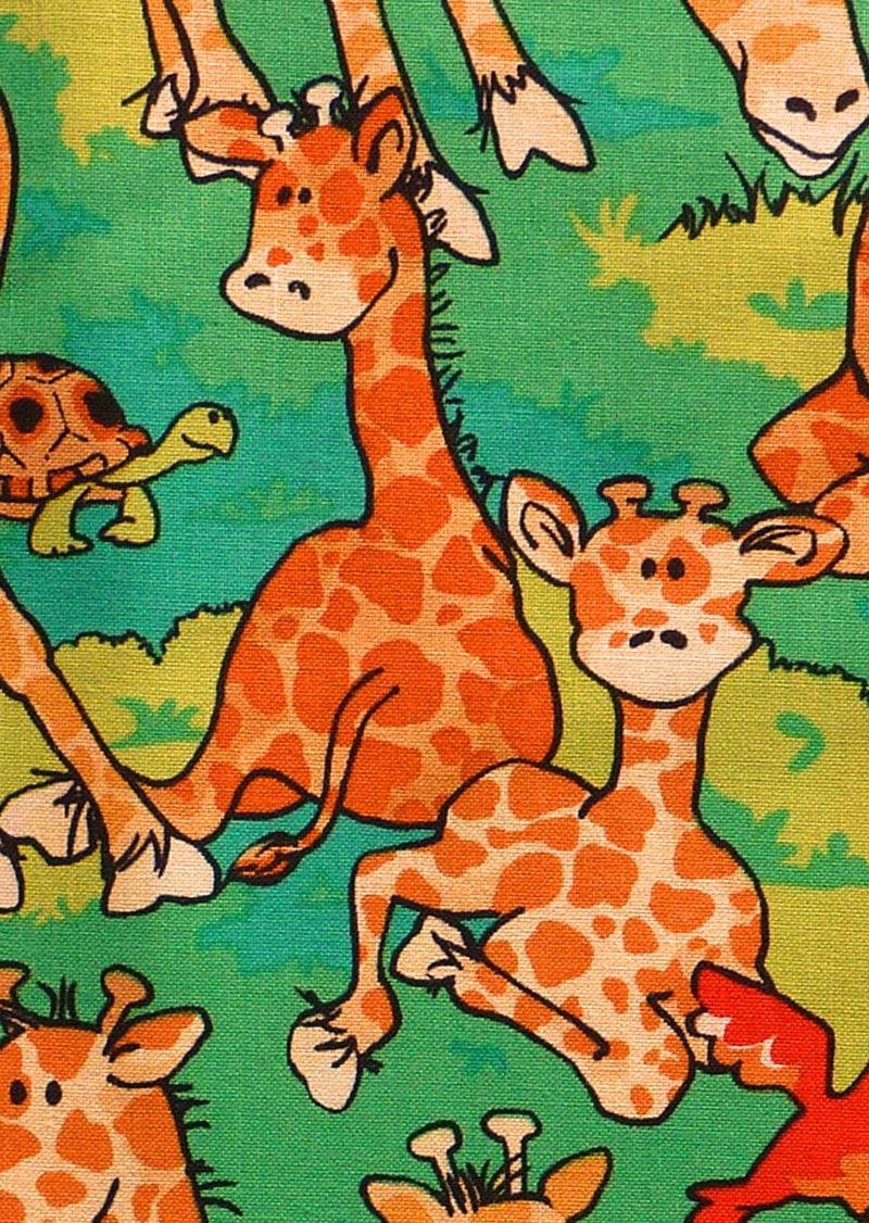 Kleinesbild - ✂ Patchworkstoff Meterware Zany Zoo Lustige Giraffen