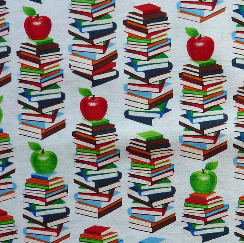 "- ✂ Patchworkstoff Meterware windham Fabrics ""Educators"" weißgrundig - ✂ Patchworkstoff Meterware windham Fabrics ""Educators"" weißgrundig"
