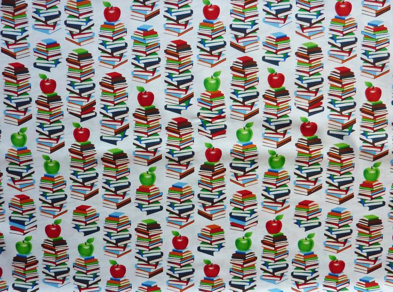 """Kleinesbild - ✂ Patchworkstoff Meterware windham Fabrics """"Educators"""" weißgrundig"""