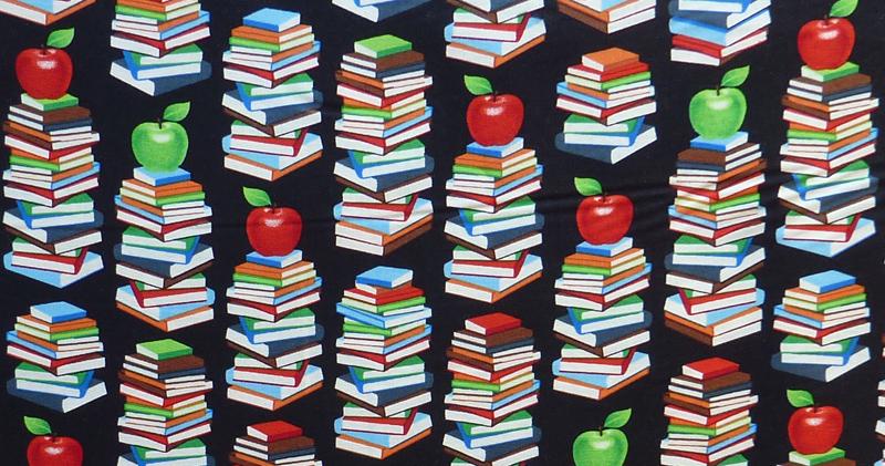 "- ✂ Patchworkstoff Meterware windham Fabrics ""Educators"" schwarzgrundig - ✂ Patchworkstoff Meterware windham Fabrics ""Educators"" schwarzgrundig"