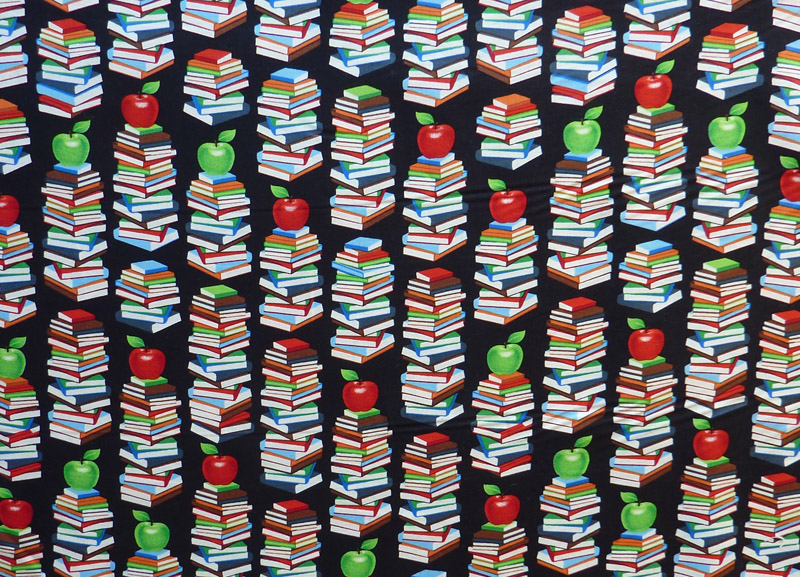 "Kleinesbild - ✂ Patchworkstoff Meterware windham Fabrics ""Educators"" schwarzgrundig"