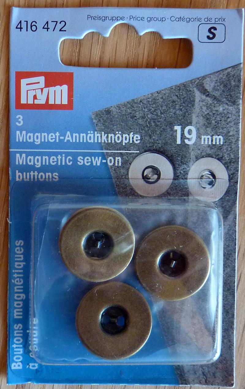 - ✂ Magnetannähknöpfe von Prym (3 Stück) 19 mm - ✂ Magnetannähknöpfe von Prym (3 Stück) 19 mm