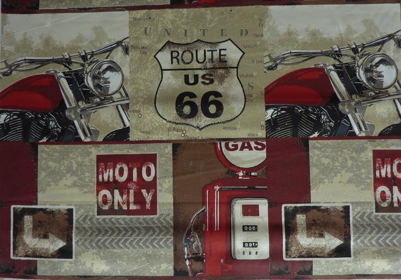 - ✂ Meterware Baumwolldruck Route - ✂ Meterware Baumwolldruck Route