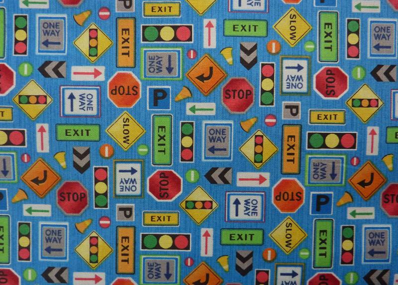 Kleinesbild - ✂ Patchworkstoff Meterware Fabri Quilt Truck Stop