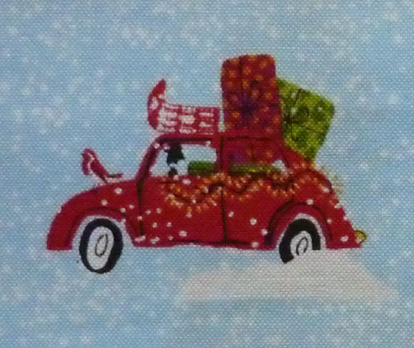 Kleinesbild - ✂ Patchworkstoff Meterware Weihnachtsstoffe Makower Wunderland Cars
