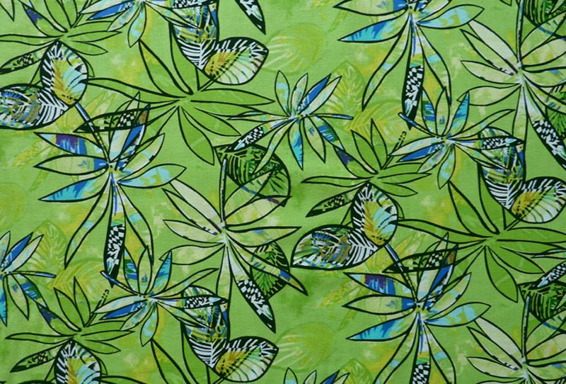 - ✂ Patchworkstoff Meterware großflächige Blumen auf leuchtendem grünen Hintergrund - ✂ Patchworkstoff Meterware großflächige Blumen auf leuchtendem grünen Hintergrund