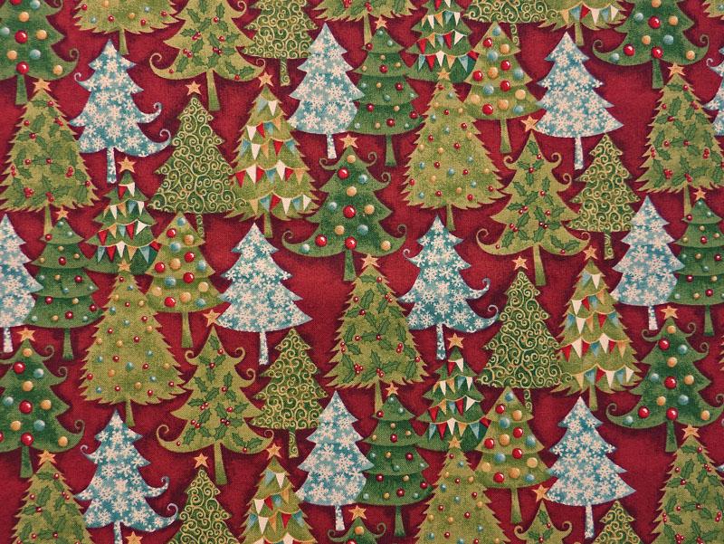 - ✂ Patchworkstoff Meterware Weihnachtsstoffe Makower Yuletide Trees - ✂ Patchworkstoff Meterware Weihnachtsstoffe Makower Yuletide Trees