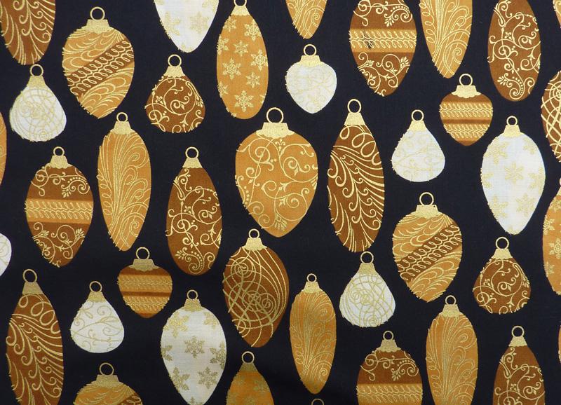 Kleinesbild - ✂ Patchworkstoff Meterware Weihnachtsstoffe Hofmann Holiday Renaissance