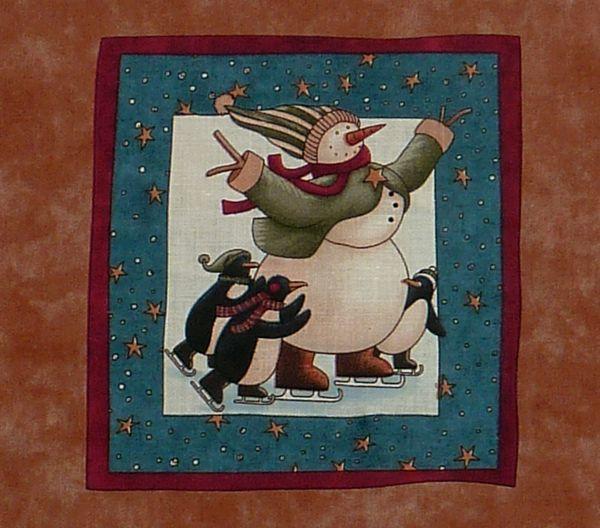 Kleinesbild - ✂ Patchworkstoff Meterware Weihnachtsstoffe Teresa Kogut Wintertime Friends Label grün