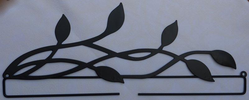 - ✂ Dekobügel Blätter schwarz - Größe 30 cm  - ✂ Dekobügel Blätter schwarz - Größe 30 cm