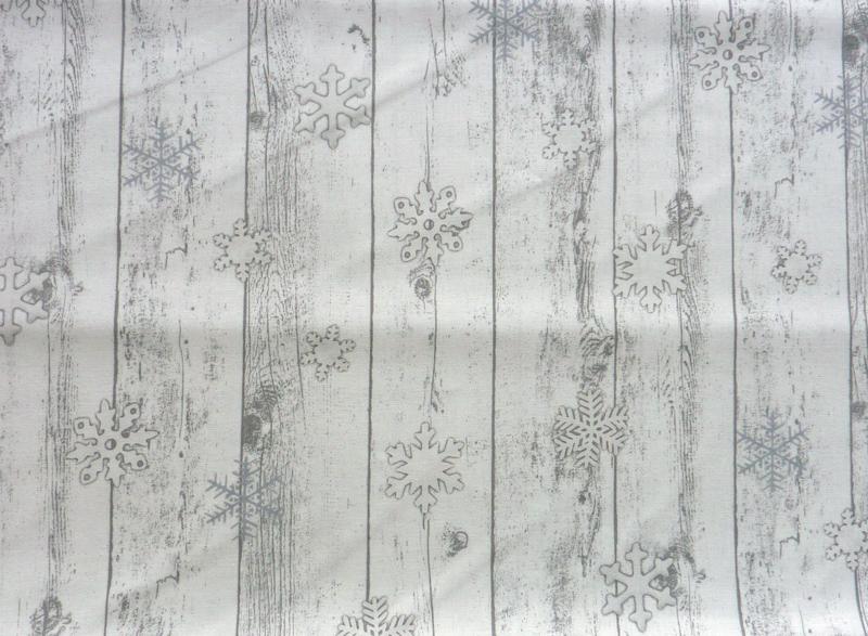 Kleinesbild - ✂ Patchworkstoff Meterware Weihnachtsstoffe Stof Fabrics Wood in Christmas