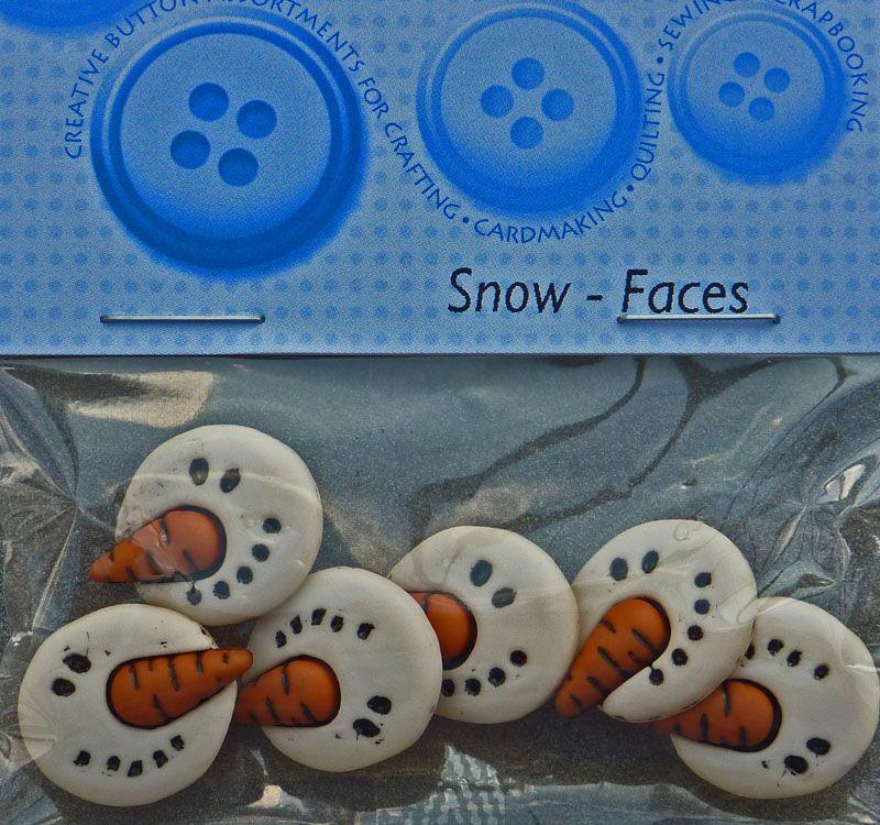 - ✂ Dress It Up Snow Faces 6 Stück - ✂ Dress It Up Snow Faces 6 Stück