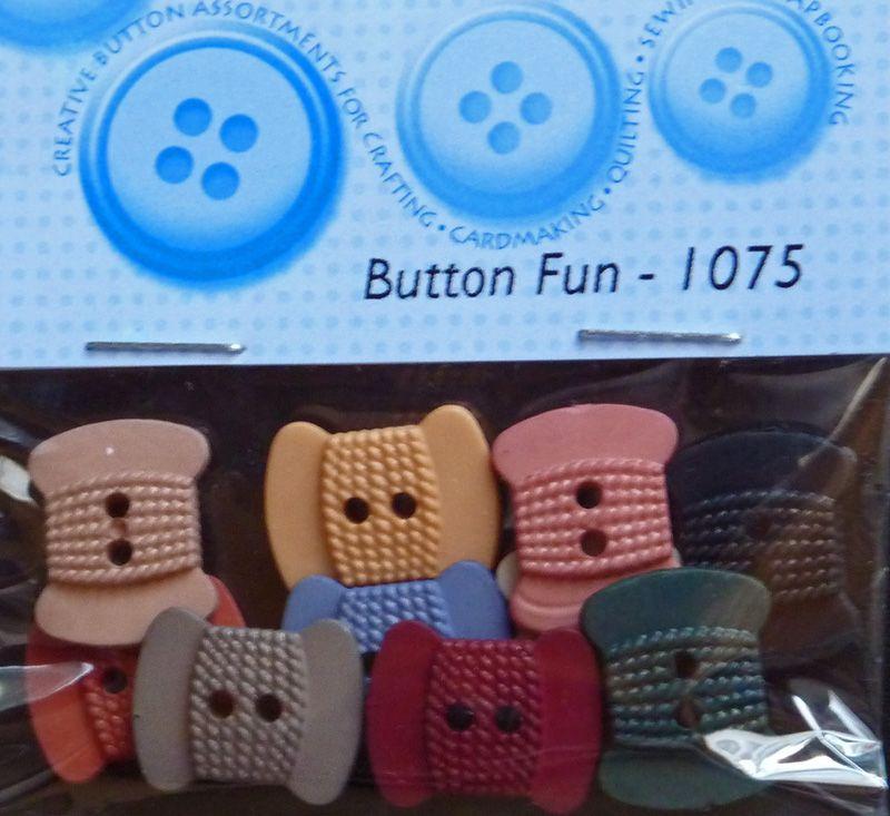 - ✂ Dress It Up Button Fun - 1075 / 10 Stück - ✂ Dress It Up Button Fun - 1075 / 10 Stück
