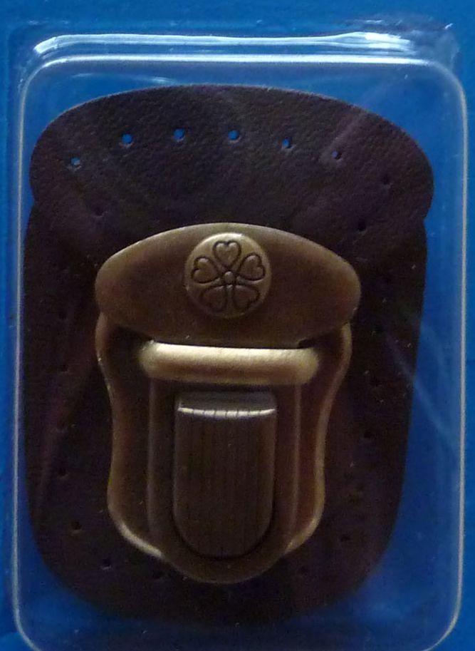 - ✂ Steckverschluss mit Leder (braun) zum Annähen - ✂ Steckverschluss mit Leder (braun) zum Annähen